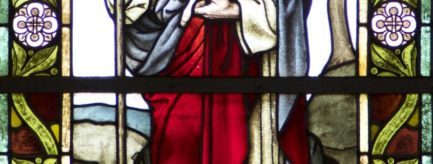 Kirche Marbach - Fenster mit Gutem Hirten