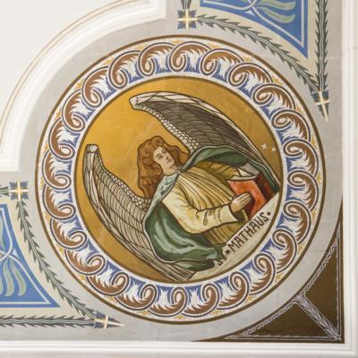 Kirche Marbach Deckenbemalung Detail