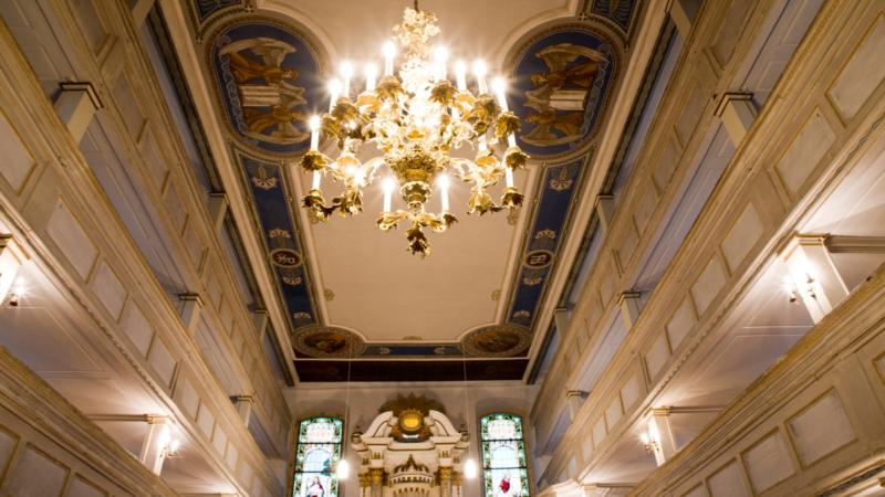 Kirche Marbach Deckenbemalung innen