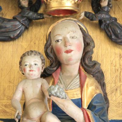 Kirche Gleisberg Altar - Maria und Jesuskind